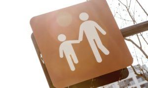 親子の標識