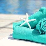 ビーチのタオル