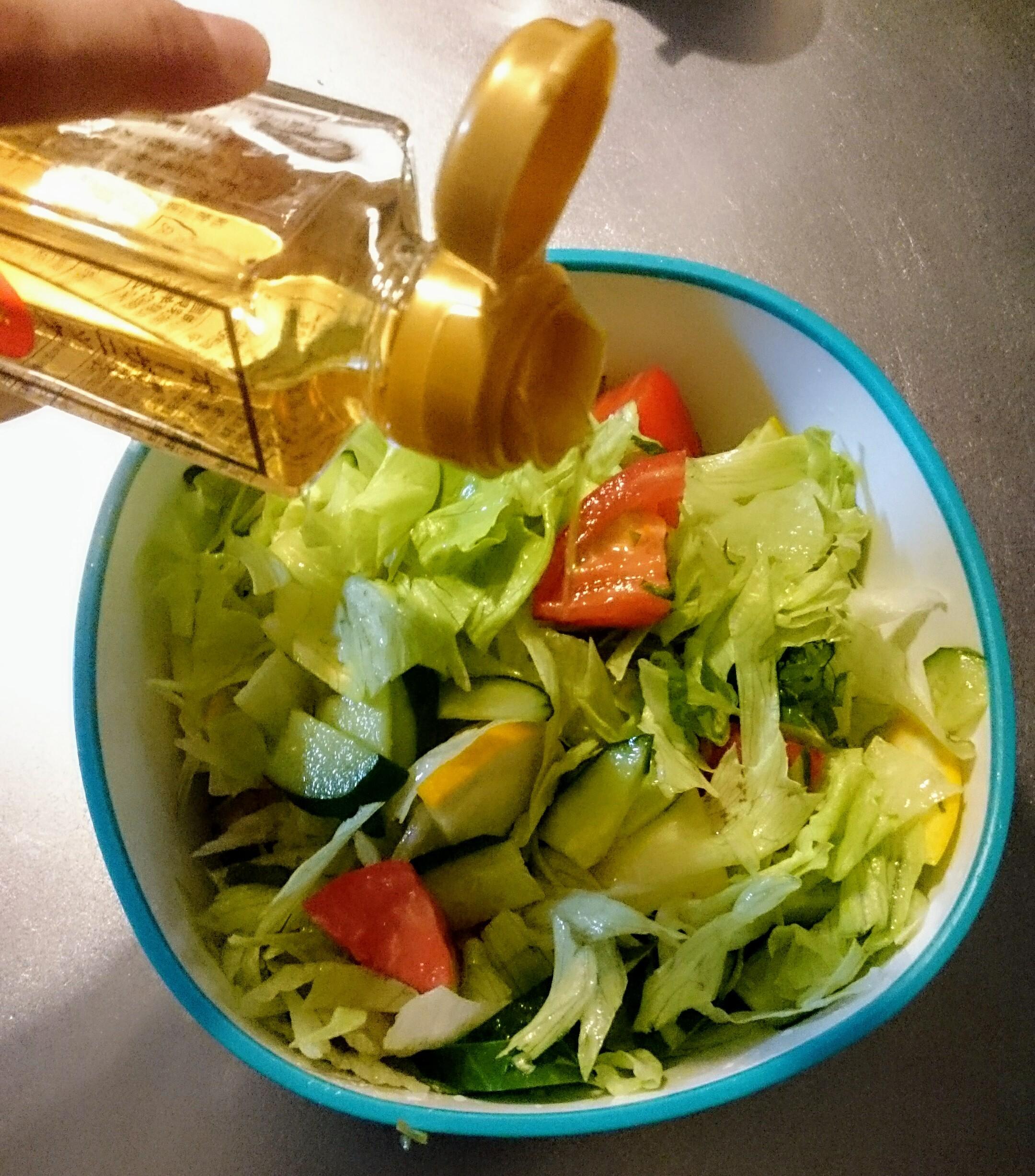梅酢をかける