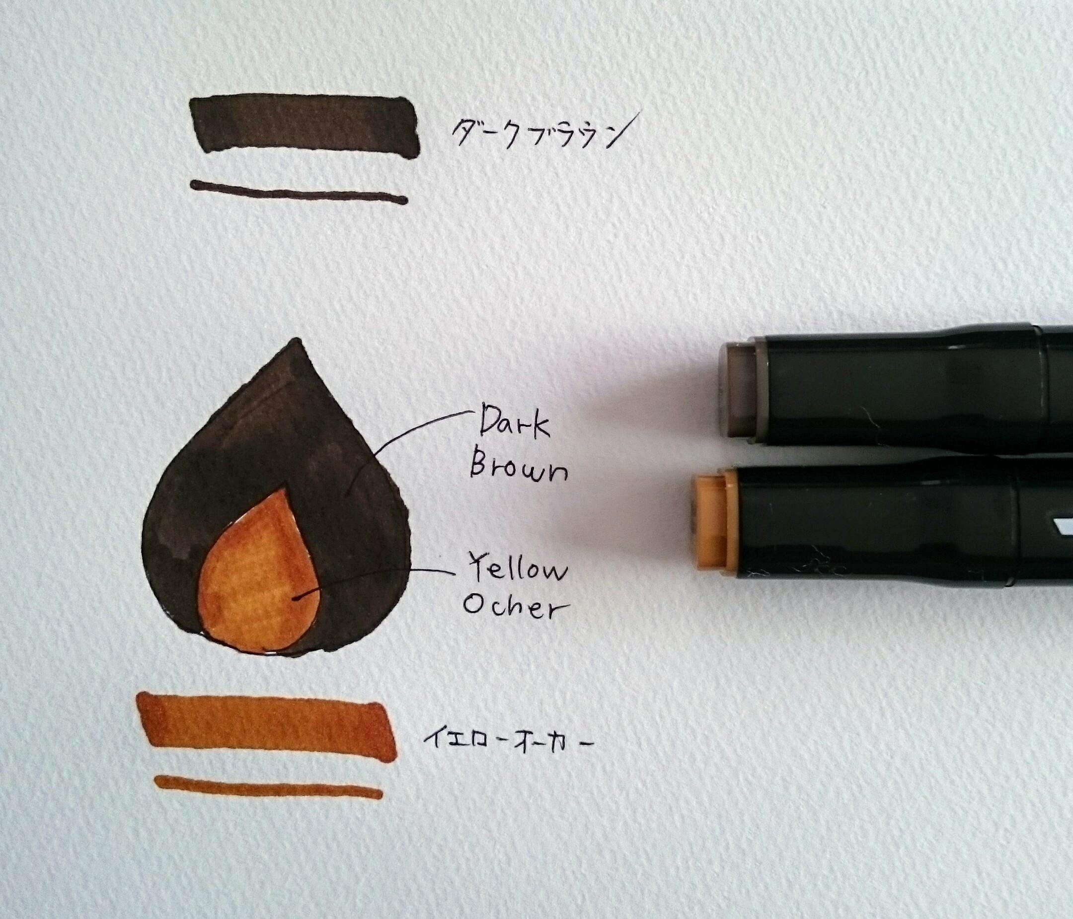 ブラウン系インク