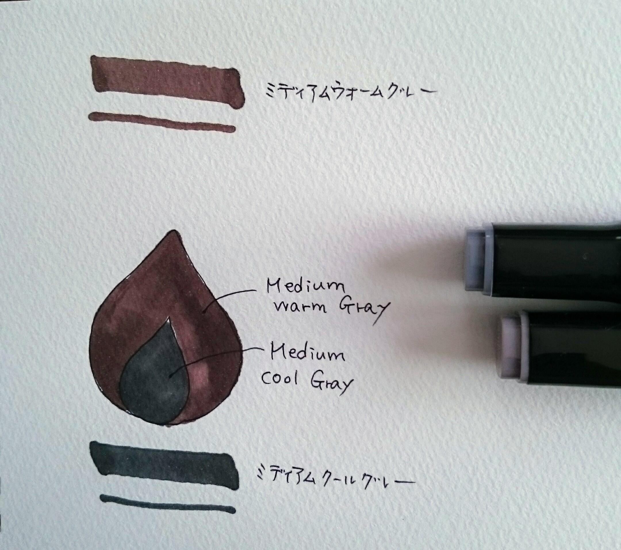 灰色系インク